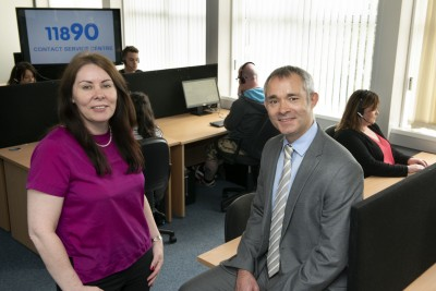 Pic l-r:  Nicola Byrne, managing director, 11890 and Neil Wisdom, managing director, Intellicom