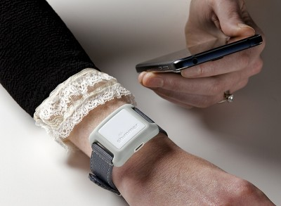 Verisense by Shimmer IMU on wrist with BaseStation Small