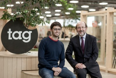 Davide Dattoli (Talent Garden founder and CEO) with DCU President Brian MacCraith at Talent Garden in Milan